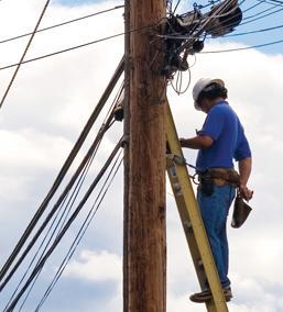 Installation et réparation d'équipement de télécom.